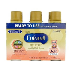Mead Johnson Nutrition【Enfamil A.R. for spit-up 乳児用 液体ミルク 米デンプン入り 6本セット 12ヶ月未満 乳児用】