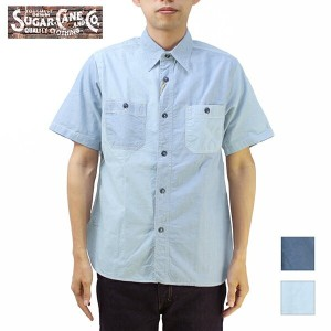 SUGAR CANE シュガーケーン 東洋エンタープライズ半袖シャツFICTION ROMANCE 5oz. VAT DYED & ROPE DYED S/S WORK SHIRTSC37341...