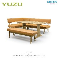 33%OFF [4点セット] GREEN home style YUZU SOFA LD TABLE + LD CHAIR A + LD CHAIR B[L] + LD BENCH (グリーン...