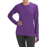 テラマール Terramar レディース サバイバル ウェア【Terramar Ecolator Scoop Fleece Base Layer Top - UPF 50+, Long Sleeve】Purple Rain