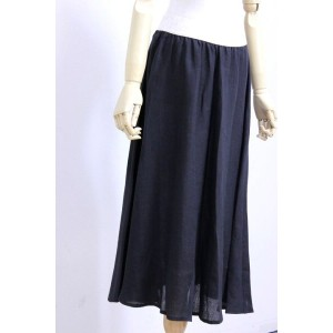 O'NEIL of DUBLIN(オニールオブダブリン) リネン100% Swing Skirt PLAIN #801 2color 2017'S/S【Lady's】