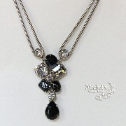 Michel's Vintage Beads Neckraceヴィンテージビーズネックレス ボリウッド・ジェットブラック