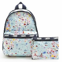 【40%OFF】LeSportsac 7812-D840 リュックサック Basic Backpack(ベーシックバックパック)Seaside Travel/レスポートサック【新品・本物】