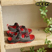 KEEN キーン キッズ チルドレン サンダル Rock Iguana CHILDREN ロック イグアナ Magnet/Racing Red (1014421 SS16)【コンビニ受取対応商品】...