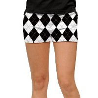 LoudMouth Ladies Black & White Mini Shorts (#SS)【ゴルフ レディース>パンツ】