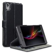 Sony Xperia X Performance Low Profile PU Leather Wallet Case by Active1 (Black)