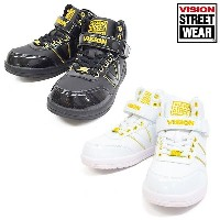 キッズ シューズ VISION ヴィジョン NEW BROOKLYNE KIDS VKO-501(WHITE-WHITE / BLACK-BLACK) DD G3