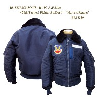 "BUZZ RICKSON'SバズリクソンズB-15C A.F.Blue428th Tactical Fighter Sq.Det-1""Harvest Reaper"" 2015年生産BR13339-15AWフライトジャケ..."