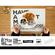 RE:CYCLE PAPER PLACEMAT 80P × 2冊 /リサイクル ペーパープレスマット 80枚入り×2冊 &NUT / アンドナット ランチョンマット 【あす楽対応_東海】