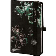 Lany book『Sparkling Flowers(Nero/Verde + Nero)』A6サイズ【Made in italy】《送料無料》《後払い対応》【文房具 文具 ステーショナリー...