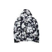 POLO RALPH LAUREN TROPICAL FLORAL HOODED JACKET (710574936001: BLACK×WHITE FLORAL)ポロラルフローレン/フードナイロンジャケット/...