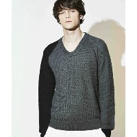 【attack the mind 7】NB-019PW01-Basket woven original U-neck pullover