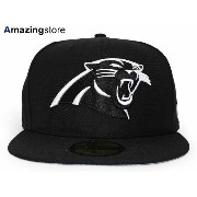 NEW ERA CAROLINA PANTHERS 【NFL TEAM-BASIC/BLK-WHT】 ニューエラ カロライナ パンサーズ 59FIFTY フィッテッド キャップ FITTED CAP...