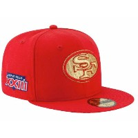 NEW ERA SAN FRANCISCO 49ers 【SUPER BOWL XXIII GOLD-50/RED】 ニューエラ サンフランシスコ 49ers 59FIFTY FITTED CAP フィッテッド ...