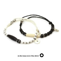 on the sunny side of the street 510-367 Buffalo Horn,Bone & Trade beadsBracelet ブレスレット Anklet...