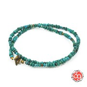 Sunku/39/サンクSK-024 Turquoise Beads Anklet & Necklace アンティークビーズNecklace/ネックレス/Anklet/アンクレットSilver925...