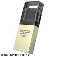 SILICONPOWER microUSB − USB-A 2.0メモリ [Android/Mac/Win/Linux] Mobile X10(8GB・シャンパンゴールド) SP008GBUF2X10...