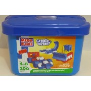 メガブロック タブ ブルー Mega Bloks Create 'N Play Junior 200 Piece Blue Tub Primary Colours