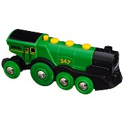 BRIO ブリオ 木製 レール 機関車 列車 33593 Rail Big Green Action Locomotive Train