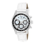 インヴィクタ インビクタ 腕時計 レディース 時計 Invicta Women's Angel MOP Dial Tachymeter Chronograph White Leather Band...