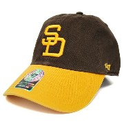 MLB パドレス Cooperstown Franchaise キャップ 47 Brand Brown/Gold