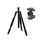 "SIRUI M-3004 4 Section Aluminum Tripod アルミニウム三脚 , Supports 39 lbs., Max Height 69"" - with"