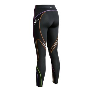 CW-X CW-X レディース インナー タイツ【Stabilyx Tight】Black/Rainbow Stitch