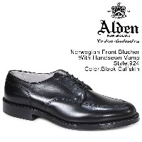 ALDEN オールデン シューズ NORWEGIAN FRONT BLUCHER WITH HANDSEWN VAMP Dワイズ 924 メンズ