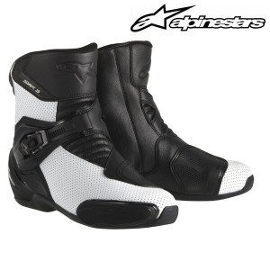 alpinestars S-MX 3 BOOT 2224014 ショートブーツ (WHITE BLACK VENTED)