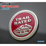 《Mopar》 JEEP TRAIL RATED エンブレム レッド