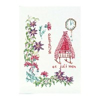 Thea Gouverneur クロスステッチ刺繍キットNo.867 「July」(7月) テア・グーヴェルヌール 【取り寄せ/納期40〜80日程度】