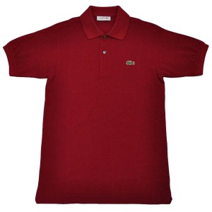 JAPAN LACOSTE(ジャパンラコステ) L1212 S/S PIQUE POLOSHIRTS(半袖 鹿の子 ポロシャツ) BORDEAUX(WINE)(476)