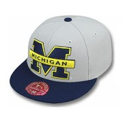 MITCHELL&NESS MICHIGAN WOLVERINES 【2T XL-LOGO/GREY-NAVY】 ミッチェル&ネス ミシガン ウォルバリンズ フィッテッド キャップ FITTED...