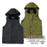 【WESTRIDE ウエストライド】ベスト/15FW SEVEN POCKET HUNT VEST★送料・代引き手数料無料!REAL DEAL