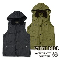 p10【WESTRIDE ウエストライド】ベスト/15FW SEVEN POCKET HUNT VEST★送料・代引き手数料無料!REAL DEAL