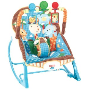 Fisher-Price フィッシャープライス ベビー用チェア Infant-to-Toddler Rocker, Jungle Fun