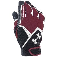 アンダーアーマー メンズ 野球 グローブ【Under Armour Clean Up VI Batting Gloves】Maroon/Black/White