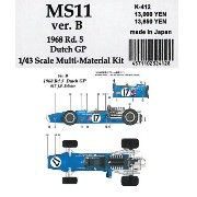 MS11 1968 Rd.5 Dutch GP【1/43 K-412 Ver.B Multi-Material kit】