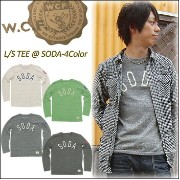 W.C.F(Waspish Core Factory) L/S TEE @ SODA[31M104-2] 長袖 ロンT クルーネック メンズ 【smtb-kd】【RCP】