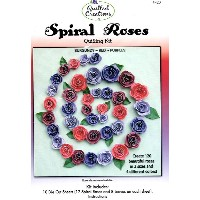 クイリングキット Spiral Roses - Burgundy, Red & Purple