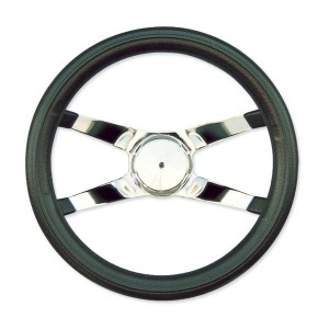 4 Spoke No Hole Racing Steering Wheel 30cm