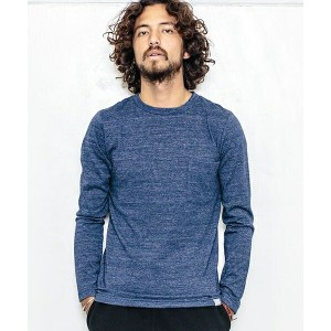 【ANGENEHM(アンゲネーム)】1632-324AN-Throstle Yarn Long Sleeve Pocket Tee (MADE IN JAPAN)