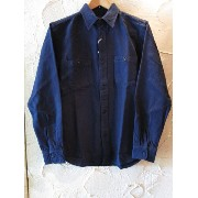 VINTAGE EL ヴィンテージ・イーエル /SOLID NELL WORK SHIRT NAVY