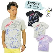 【SALE】PEANUTS スヌーピー プリント 天竺 半袖Tシャツ S1162-61B S116261B 『IT CAN'T GET ANY BETTER THAN THIS!』 SNOOPY...