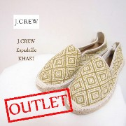 SPECIAL PRICE♪ OUTLET SALE ジェイクルー エスパドリーユ/カーキジャガードJ.CREW