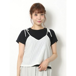 【SALE/70%OFF】AS KNOW AS リボン結びでSetT アズノゥアズ カットソー【RBA_S】【RBA_E】