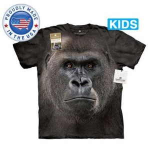 The Mountain Tシャツ The Smithsonian Big Face Lowland Gorilla (The Smithsonian サル 猿 マウンテンゴリラ キッズ 子供用)...