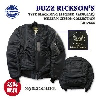 【送料無料】BUZZ RICKSON'S(バズリクソンズ)フライトジャケットType BLACK MA-1 SLENDER (REGULAR) WILLIAM GIBSON COLLECTIONBR12666...