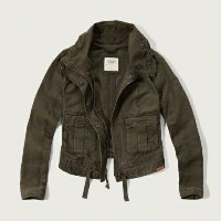 ★SALE★Abercrombie & Fitch(アバクロ)レディースジャケット【MILITARY TWILL JACKET】【smtb-k】【w1】