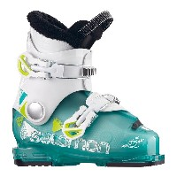 ★SALOMON〔サロモン ジュニアスキーブーツ〕<2018>T2 RT 〔light green translu/white/acide green〕〔z〕